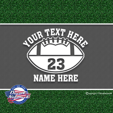 Custom Personalized Football Team Vinyl Decal Sticker