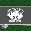 custom personalized vinyl football decal sticker