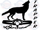 Coyote Trapper vinyl trapping decal sticker car truck suv window