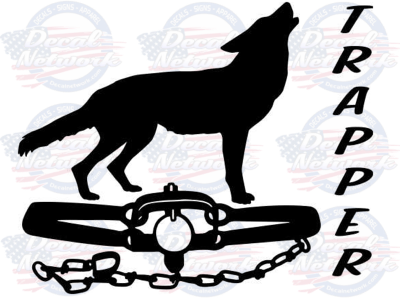 coyote trapper vinyl decal