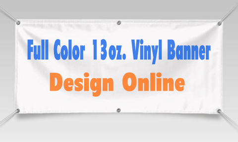 Vinyl Banner 3'x 5' Custom with your design text