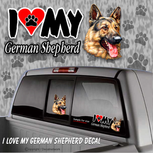 german shepherd window sticker