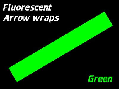green fluorescent arrow wraps