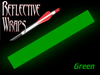 green reflective arrow wraps