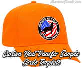 Neon Orange Snap Back Custom Circle hat logo