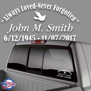 in loving memory of dove decal