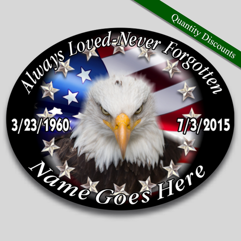 Image of in loving memory american eagle flag patriotic decal