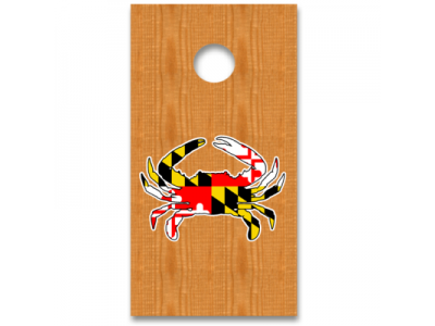 maryland flag crab decal sticker corn hole boards