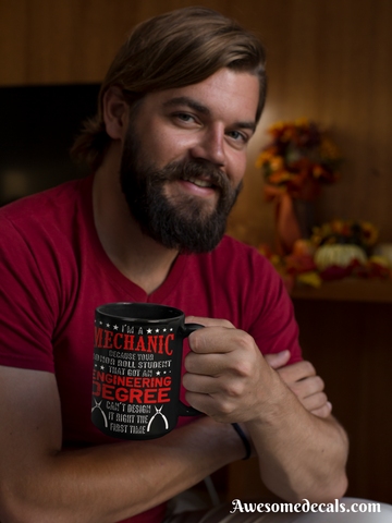 Image of mechanic coffee mug novelty gift