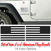 One color cut vinyl American flag vinyl decals