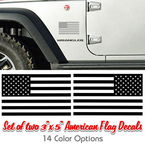 jeep american flag vinyl decals