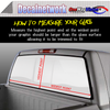 American Flag Flying Eagle Window Graphic Perforated rear window film truck Suv glass