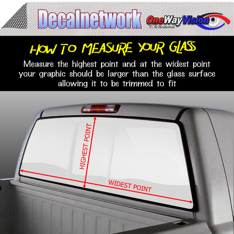 Image of Firefighter Rescue Window Graphic Perforated rear window film truck Suv glass