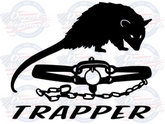 Opossum Trapper vinyl trapping vinyl decal sticker car truck suv window