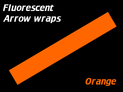 orange fluorescent arrow wraps