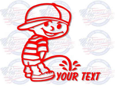 pee boy vinyl decal custom text calvin