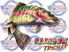 Rainbow Trout full color vinyl fish decal
