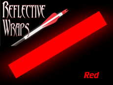 Red Reflective Arrow wraps