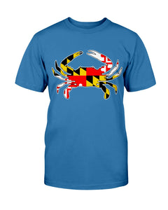 maryland flag crab tee shirt