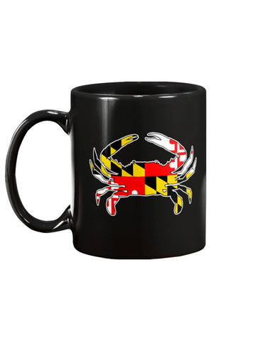 Image of maryland flag blue crab coffee mug