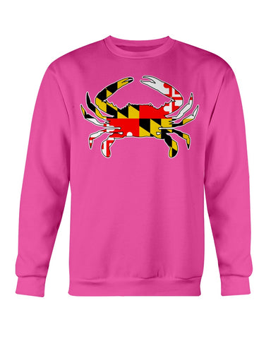 Image of maryland flag crab design shirt