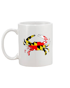 maryland flag blue crab coffee mug