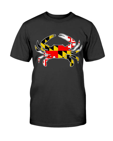 Image of Maryland Flag Blue Crab tee shirt design