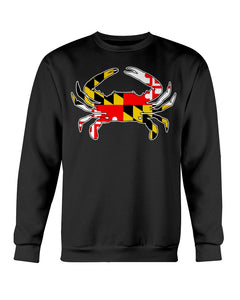 maryland flag crab design shirt