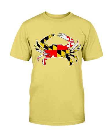 Image of maryland flag crab tee shirt