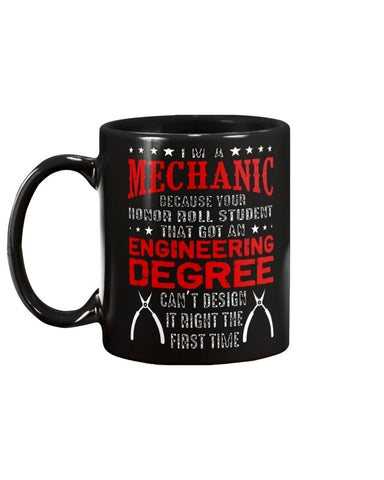 Image of Novelty Coffee Mug for Mechanics BIG 15oz Size