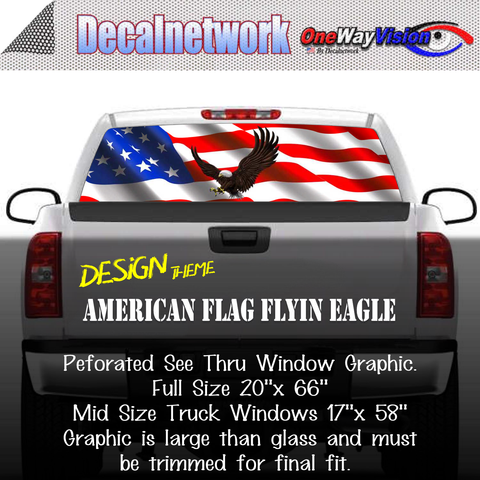 Image of american flag eagle window graphic