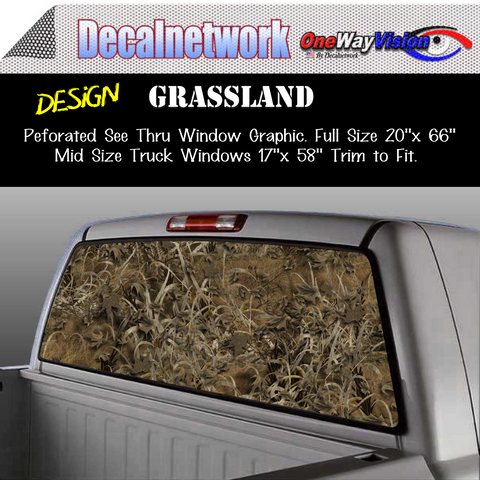Image of grassland camo window graphic