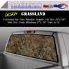 Grassland camo Window Graphic Perforated rear window film truck Suv glass