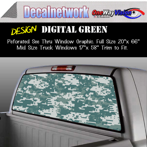 Image of green digital army camo window graphic