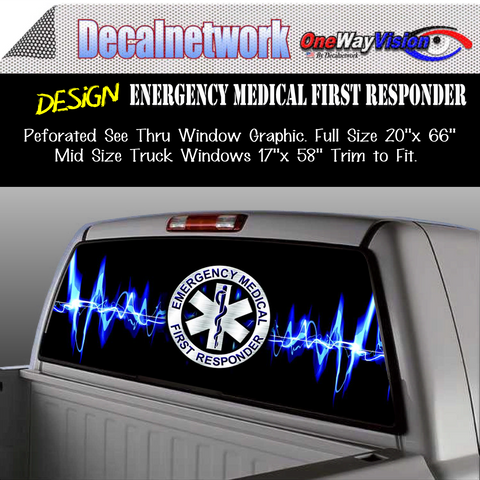 Image of emergency first responder window graphic