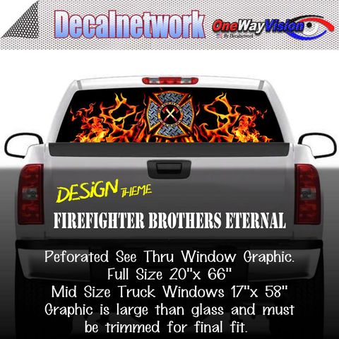 Image of firefighter brothers eternal window graphic