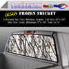 Snow camo Frozen Thicket Window Graphic Perforated rear window film truck Suv glass