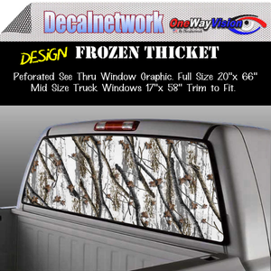 Frozen thicket snow camo window graphic