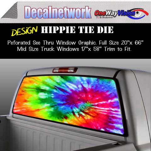 Image of hippie tie die window graphic