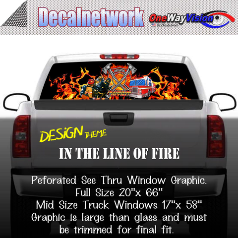 Image of in the line of fire window graphic