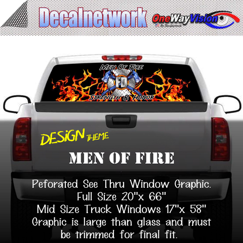 Image of men of fire window graphic
