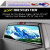Mountain scene Window Graphic Perforated rear window film truck Suv glass