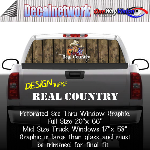 Image of real country cow boy boots hat window graphic