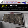 Woodland camo Window Graphic Perforated rear window film truck Suv glass