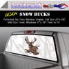Snow whitetail bucks Window Graphic Perforated rear window film truck Suv glass