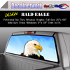 Bald Eagle Window Graphic Perforated rear window film truck Suv glass