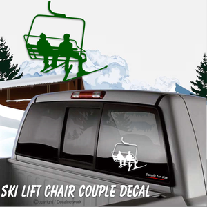 ski chair lift skiing vinyl decal sticker