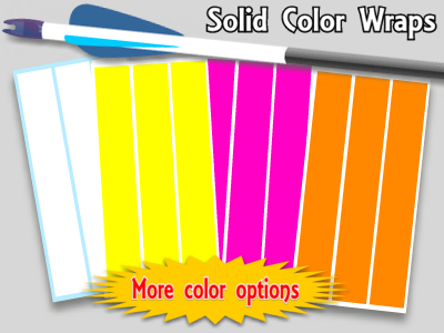 Image of solid color arrow wraps custom