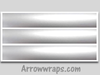 Solid Silver Metallic Arrow wraps