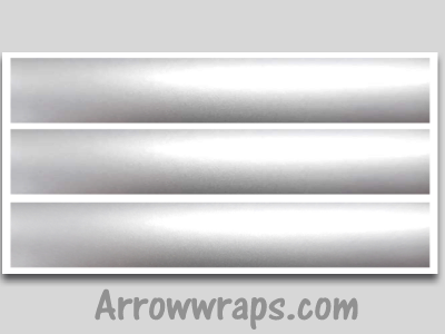 silver metallic vinyl arrow wraps archery decals sticker